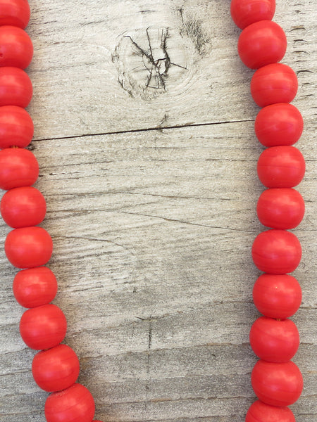 Jangali Opaque Recycled Glass Bead Necklace