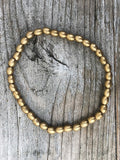 Chandra Brass Bead Bracelet
