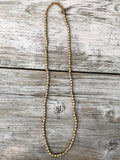 Chandra Brass Bead Necklace