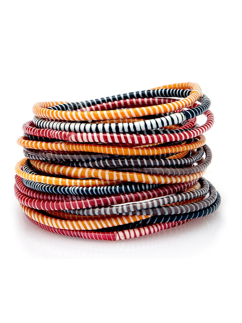 By The Fire Recycled Flip Flop Bracelets (Set of 8)
