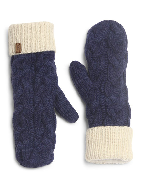 Unisex Merino Wool Cable Knit Mittens