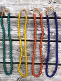 Jangali Translucent Recycled Glass Bead Necklace