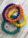 Nailo Translucent Recycled Glass Bead Bracelet