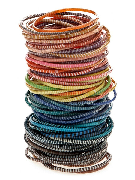 Recycled Flip Flop Bracelets (Set of 6)