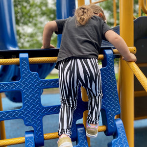 Kid's Mountain Zebra Leggings