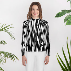 Youth Mountain Zebra Rash Guard