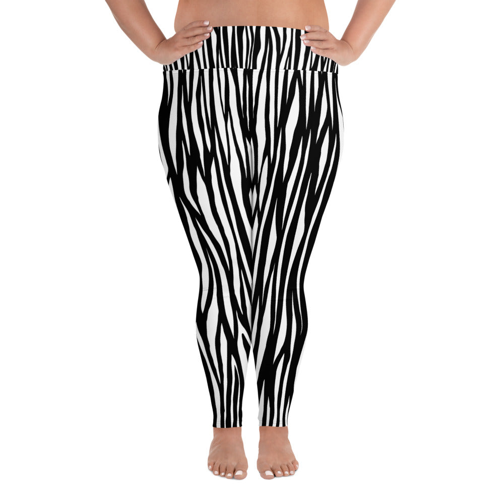 Mountain Zebra Plus Size Leggings