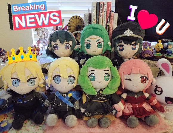 Fire Emblem Three Houses Plush Dolls ☆☆ Wave 1 - Dimitri, FByleth, Seteth, Hilda