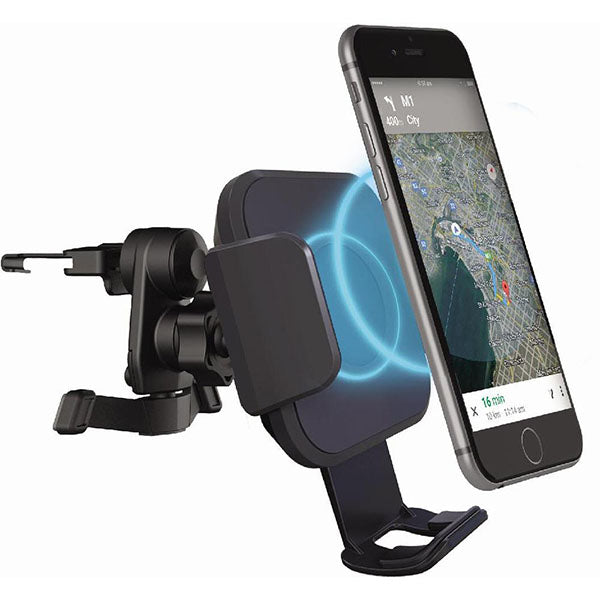 Cygnett Race 10W Wireless Smartphone Car Charger and Vent Mount