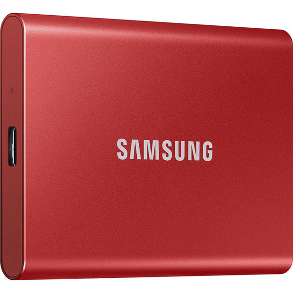 Samsung T7 Portable SSD Drive [1TB](Metallic Red)