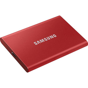 Samsung T7 Portable SSD Drive [500GB](Metallic Red)
