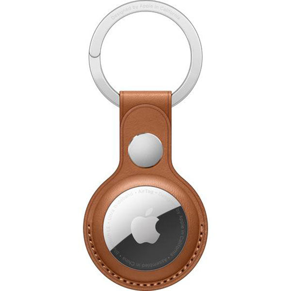 Apple AirTag Leather Key Ring (Saddle Brown)