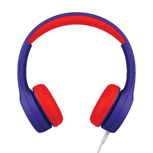 LilGadgets Connect+ Style Children's Wired Headphones - Blue + Red