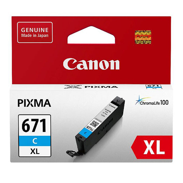 Canon CLI-671XL Ink Range- 680 pages each