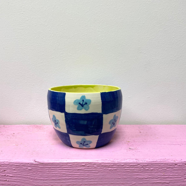 Little Blue Pansy Planter