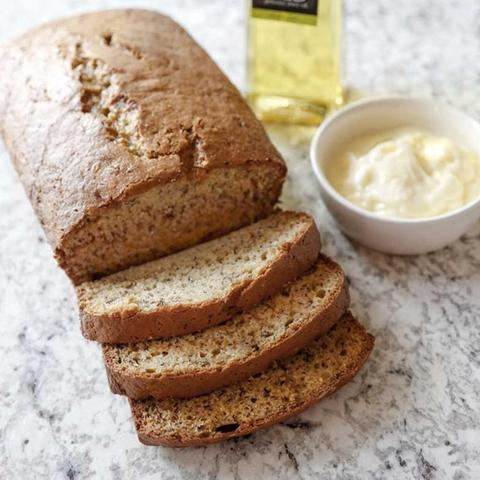 BANANA BREAD WITH WHIPPED EVOO BUTTER
