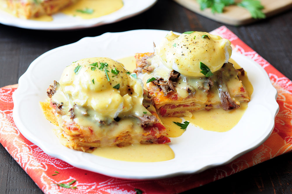 GREEN CHILI EGGS BENEDICT