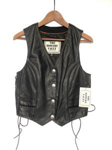 TBV Women's Leather Western Braided Vest