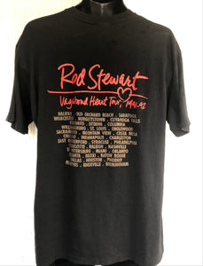Authentic Rod Stewart T-shirt - Vagabond Heart Tour 1991-92