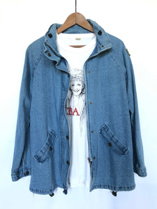 80's Vintage Denim Jacket With Patch