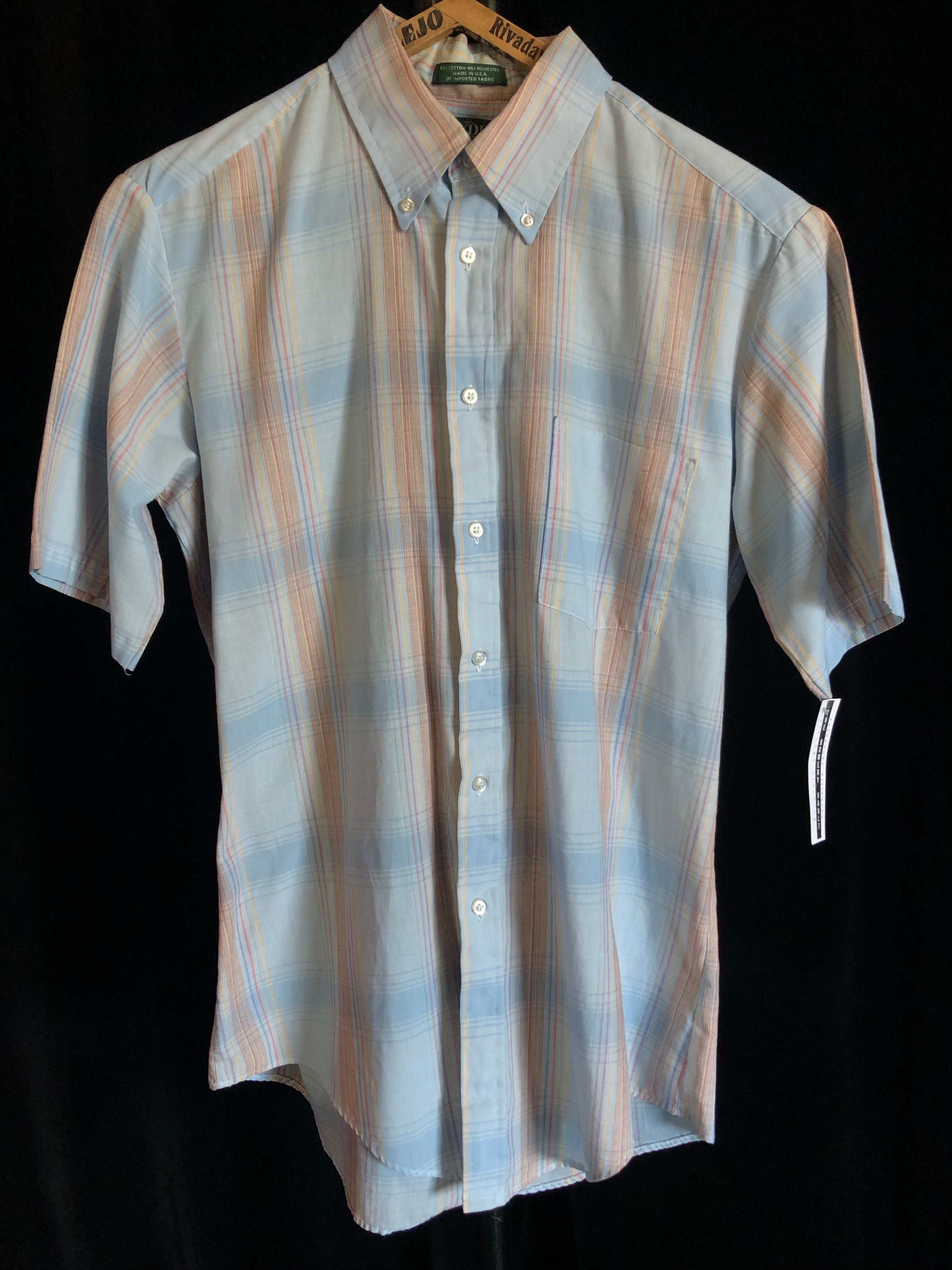 "Vintage Hyde Park Madras Shirt ""Paper Thin"""