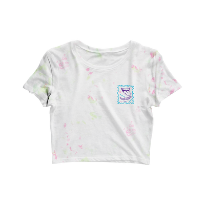 90's Smile Crop Tee - Dyed
