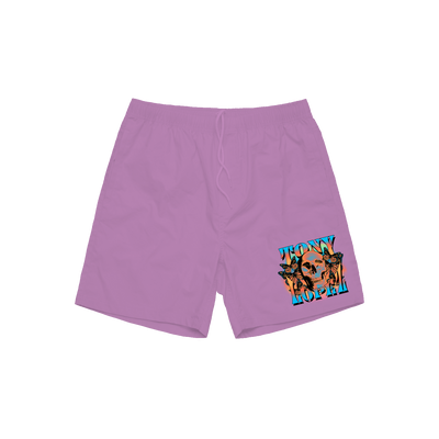Skull Shorts - Purple