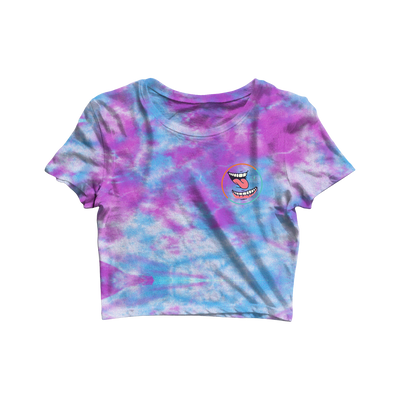 Circle Smile Crop Tee - Dyed