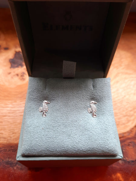 In many cultures the Seahorse is associated with sea gods and therefore a symbol of strength and power.  Our adorable sterling silver Seahorse earrings have fantastic detail and would make a great sea themed gift or a wonderful accessory for any beach babes or mermaids!      Size - 10mm x 5mm