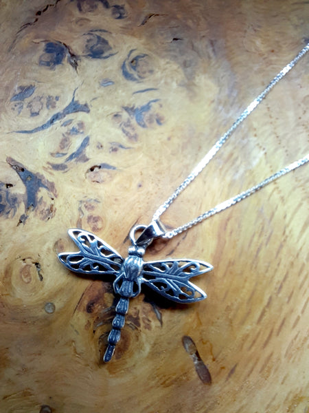 Filigree Dragonfly Necklace