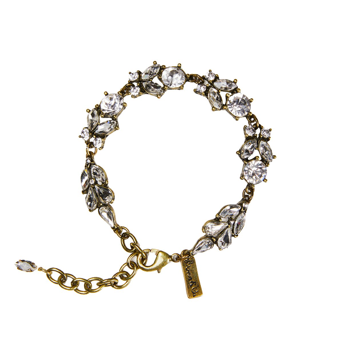 Adorn yourself with our Authentic styled Antique style Bracelet with its Faceted Foliage and Floral Inspired Design drawn from the 1920's.  This is a very special piece to be treasured forever. Hypoallergenic and Nickel free. Length 18cm, extender 6cm.