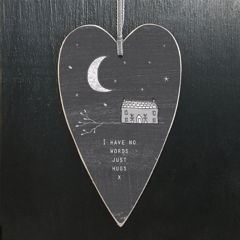 Made from card which can be fully recycled is this East of India dark grey heart tag with a grey ribbon attached. Ideal for adding to your jewellery order or add to a card for a friend or loved one.    Size - 7 x 11.5 x 0.4cm.