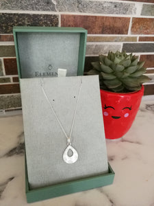 Engraved Teardrop Necklace