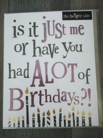 Alot of Birthdays?!