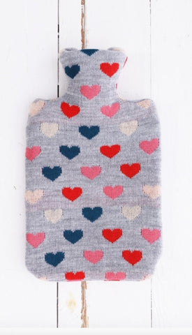 Heart Knit Hot Water Bottle