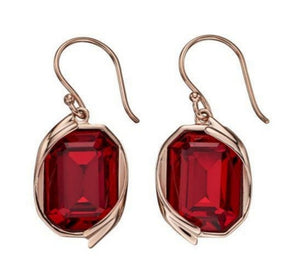 Deep Red Swarovski Crystal Earrings