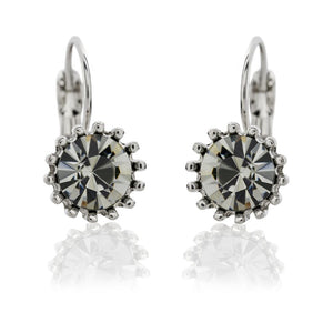 We adore our range of French clip Swarovski crystal earrings. Each beautiful earring has it's own special tone with sparkle and colour burst.     Hypoallergenic and nickel free  Size  - 2cm length, 1cm width