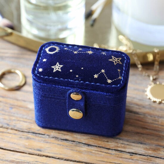Petite Velvet Starry Night Travel Box
