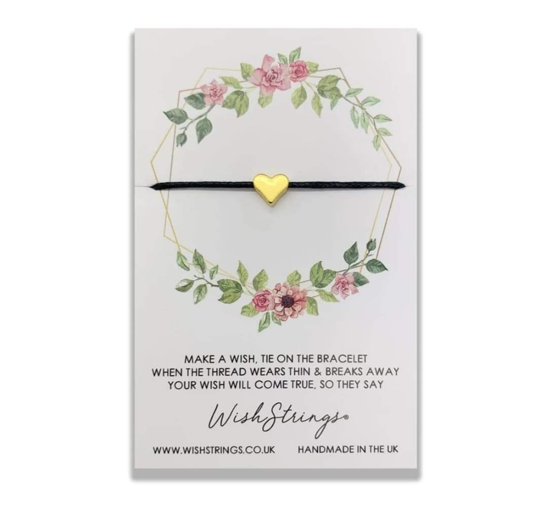 Gold Heart - Handmade Wish Strings