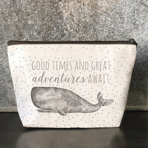 Cosmetic / Toiletry Bag - Whale