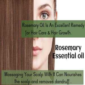 Rozhub Naturals Rosemary Essential Oil For Hair Growth,Skin and Body 100% Pure and Natural Therapeutic Grade - 15ml