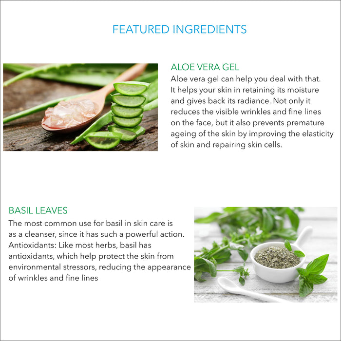 Aloe Vera and Basil Handcrafted Natural Soap with Shea Butter and Vitamin E (100g) - Rozhub Naturals