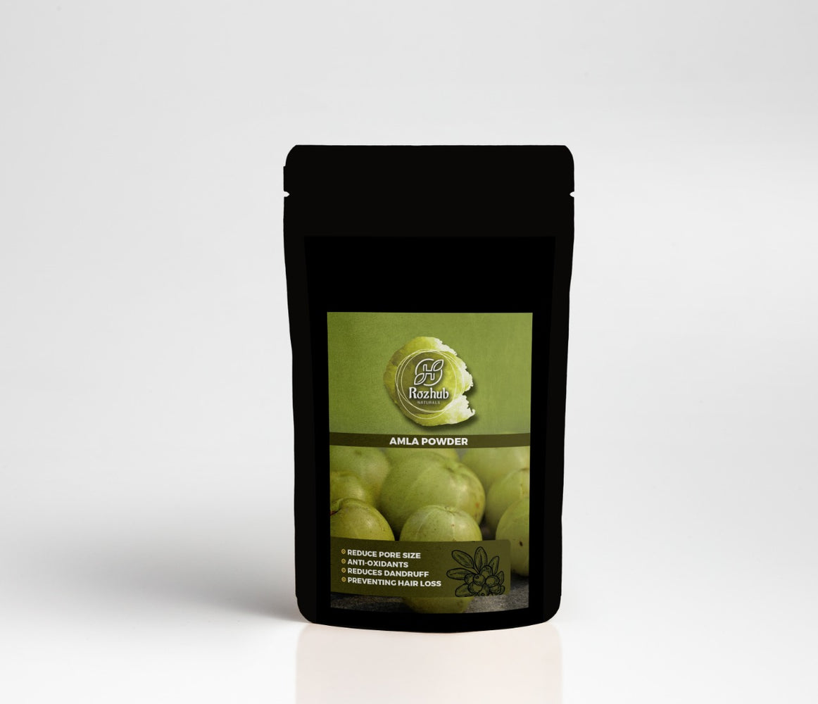 Rozhub Naturals Herbal Amla Powder (Indian Gooseberry) - 100g - Rozhub Naturals