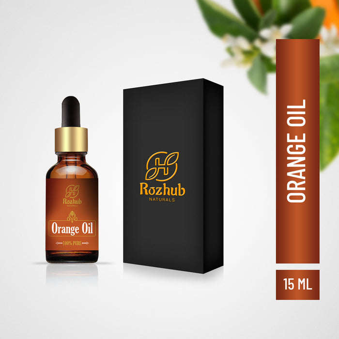Rozhub Naturals Orange Essential Oils For Skin, Hair and Aromatherapy. 100% Pure, Natural and Undiluted - 15ml - Rozhub Naturals