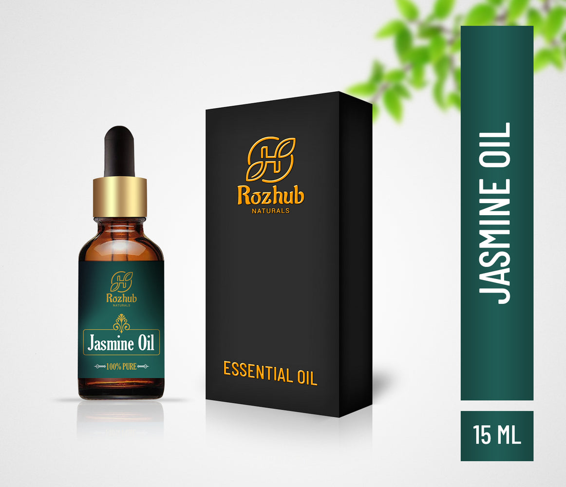 Rozhub Naturals Jasmin Essential Oil - 100% Natural & Pure Undiluted - 15ml - Rozhub Naturals