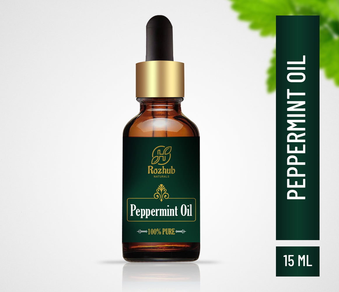 Rozhub Naturals Peppermint Essential Oil 100% Natural and undiluted - 15ml - Rozhub Naturals