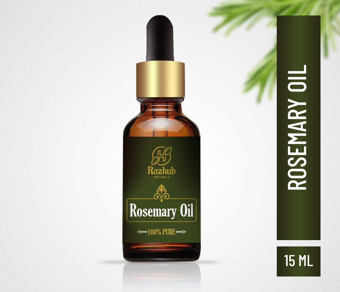 Rozhub Naturals Rosemary Essential Oil 100% Pure and Undiluted - 15ml - Rozhub Naturals