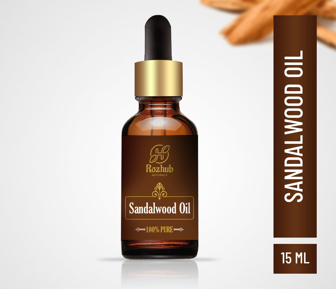 Rozhub Naturals Sandalwood Essential Oil 100% Pure and Undiluted - 15ml - Rozhub Naturals