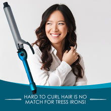 "Load image into Gallery viewer, XL Curling Iron by Tress with 1.25"" extra long barrel"