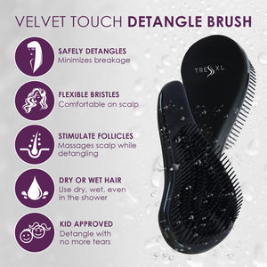 Velvet Grip Detangle Brush by Tress
